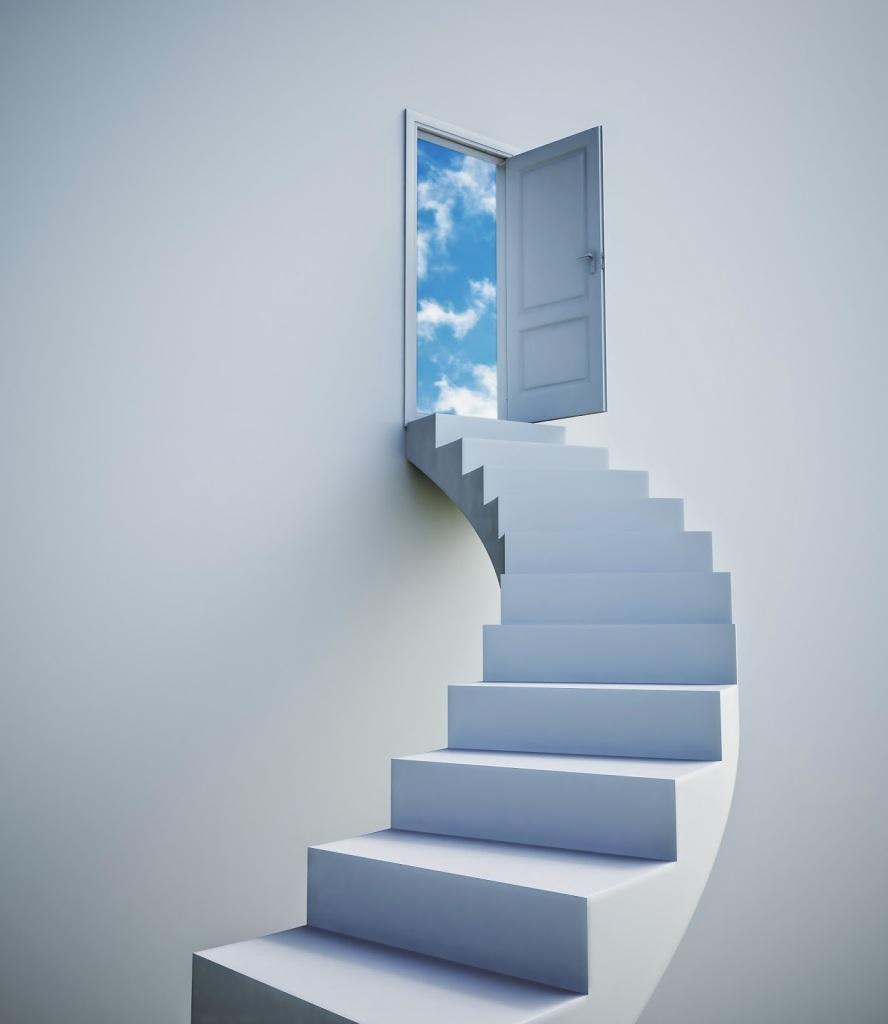 上に続く階段