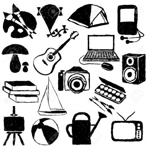 17631320-doodle-hobby-images-Stock-Vector